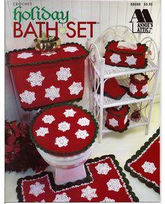 Holiday Bath Set Crochet Pattern Booklet by grammysyarngarden