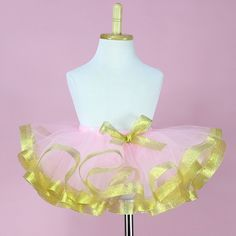 Buy Pink n Gold Tutu Skirt Online India Baby Girl Skirts, Girls Tutu Dresses, Dance Bows, Dance Wear, Kids Fashion Wear, Girl Fashion, Rainbow Costumes, Gold Tutu, Bow Skirt