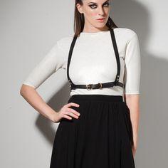 HEMLOCK black leather harness. Shop online at http://boa.storenvy.com