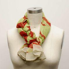Fancy braided scarf