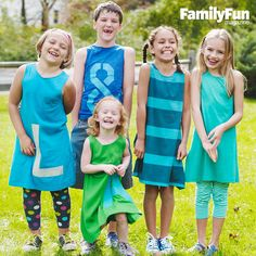 Sew a Simple T-shirt Dress: A few lines of stitching turn a grown-up's tee into a cool and comfy dress or shirt. For extra style, add a stenciled monogram.