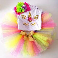 tutu unicornio pañalero o playera con tiara moño 0 a 3 años
