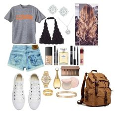 """School 94"" by ella-goodness on Polyvore featuring Converse, NARS Cosmetics, Yves Saint Laurent, Michael Kors, Cartier, Chanel, Christian Dior, MAC Cosmetics, Urban Decay and Too Faced Cosmetics"