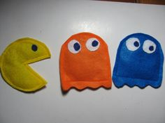 Pac man Set of 3 Organic Catnip filled Cat Toy by KittyCrackHouse, $11.00 #Dteam
