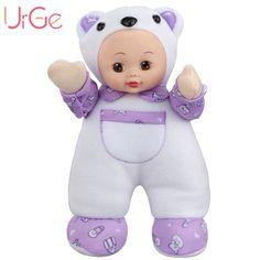 30cm Plush Sweet kawaii Cartoon Bear doll  Soft Silicone Reborn baby toys Dolls for girls Birthday Christmas Gift URGE