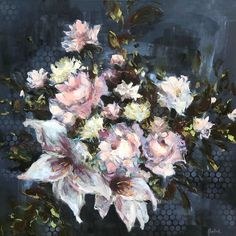 Flower still life oil paintings by Heidi Shedlock Rose Oil Painting, Still Life Oil Painting, Quote Prints, Drawing S, Oil On Canvas, Floral Paintings, Oil Paintings, Lily, Sketches