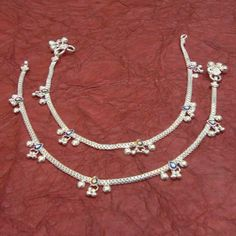 Multi Enamel 925 Sterling Silver Indian Ethnic Handmade Anklets Pair Jewelry in Jewellery & Watches, Costume Jewellery, Anklets Silver Anklets Designs, Anklet Designs, Real Pearl Necklace, Swarovski Crystal Necklace, Anklet Jewelry, Women's Jewelry, Gold Jewellery, Jewelry Ideas, Jewlery