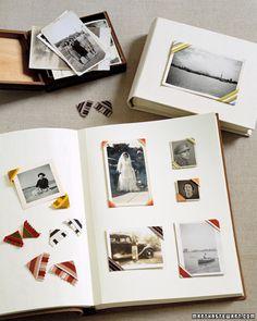 scrapbooking using photo corners