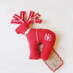 Christmas Stuffed Reindeer Toy  by:-Kitty_April