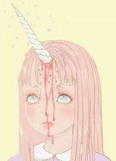Pastel goth unicorn girl
