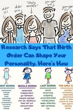 It's a general assumption that the order of birth in a family can somewhat determine your personality and intelligence, but how much of this is exactly true? Is an older brother or sister automatically more responsible, and are only children less eager to share their belongings? Let's take a look at some interesting research to see how birth order effectively impacts a child's personality. Bun Hairstyles For Long Hair, Cute Hairstyles, Braided Hairstyles, Engagement Hairstyles, Wedding Hairstyles, Birth Order Personality, Tommy Shoes, Cute Lipstick, Butterfly Shoes