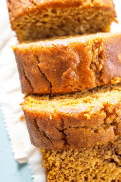 GLUTEN-FREE PUMPKIN BREAD - a quick bread that is deliciously spiced with nutmeg, cinnamon, & cloves. This fall treat is a family favorite.