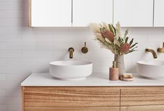 The customisation options with bathroom materials and vanity options by are endless. Not to mention the 31 architectural… Coastal Bathrooms, Boho Bathroom, Bathroom Design Small, Bathroom Styling, Bathroom Inspo, White Bathroom, Bathroom Faucets, Bathroom Ideas, Sussex Taps
