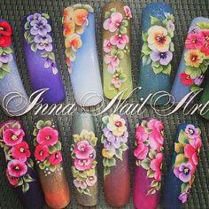 3d Acrylic Nails, Stiletto Nail Art, 3d Nail Art, 3d Nails, Easy Nail Art, Beauty Hacks Nails, Nail Art Hacks, 3d Flower Nails, 3d Nail Designs