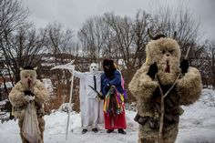 Odd News 2016:    Participants dressed in traditional devil costumes and grim reaper walk from house to house during the traditional St. Nicholas parade on December 3, 2016 in village of Francova Lhota, Czech Republic. This type of parade is one of the most popular age‐old traditions in a few villages in the Wallachia region of Eastern Czech Republic.