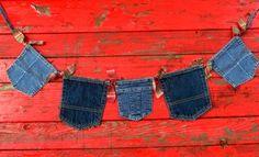 Denim Pocket Bunting by PerryWinkleParties on Etsy