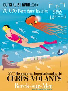 AVRIL 2013 - Rencontres internationales de Cerf volant, à Berck-sur-Mer (62)