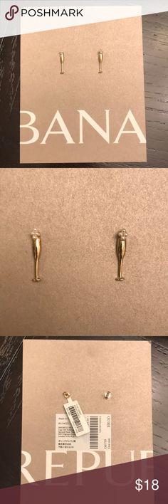 Champagne Flute Stud Earrings Brand new, cute and festive stud earrings! Banana Republic Jewelry Earrings