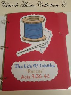 Church House Collection Blog: The Life Of Tabitha Dorcas Lapbook- Tabitha Raised From The Dead Craft and Cupcakes With Needle and Thread Template