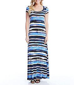 Karen Kane Painted Stripe Maxi Dress #Dillards