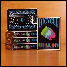 Radical 80's Bicycle playing cards.