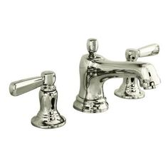 KOHLER Bancroft Polished Chrome Widespread WaterSense Bathroom Faucet (Drain Included) at Lowe's. Inspired by the traditional elegance of early American design, Bancroft brings a classic silhouette to the bathroom. This Bancroft bathroom sink Widespread Bathroom Faucet, Lavatory Faucet, Bathroom Sink Faucets, Bathroom Fixtures, Plumbing Fixtures, Sinks, Kitchen Fixtures, Kohler Faucet, Bathroom Plumbing