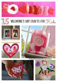 15 Fun Valentines Day Crafts For Kids - Your kids will enjoy making these Valentine's Day crafts!
