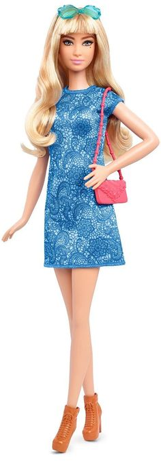 Barbie Fashionista Tall Blonde Doll with 2 Additional Outfits, Blue Print 2