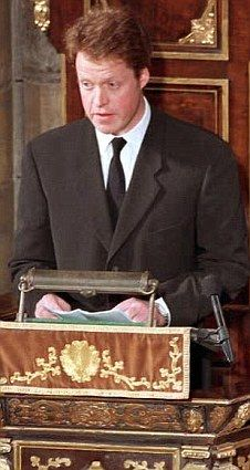 diana spencer's brother - the man who scolded the royals at her funeral. Good for him.