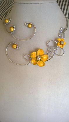 Wedding jewelry  FREE EARRINGS  Aluminium by LesBijouxLibellule