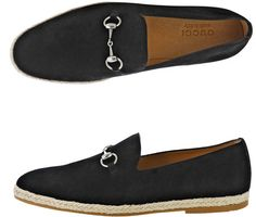 Gucci Snaffle Suede Loafers in Black for Men.