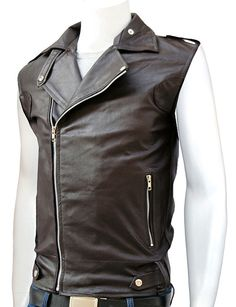 Slim Fit Men's Brown Leather Vest design and extra soft genuine cowhide leather make this jacket an embodiment of style and comfort. The superior quality of the leather really shows through on this ve