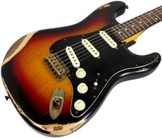 Nash S-63 Guitar, 3-Tone Sunburst, Black