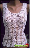 Snowflakes & Shells Motif Top free crochet pattern