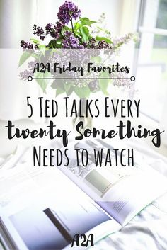 Inspiring Ted Talks for twenty-somethings. Watch these 5 videos for a dose of inspiration and motivation in your twenties.