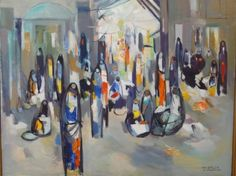 Market Place in Baghdad (1980) - Ismail al Sheikhly