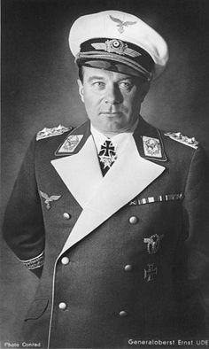 ✠ Ernst Udet (26 April 1896 – 17 November 1941) committed suicide by shooting himself in the head.