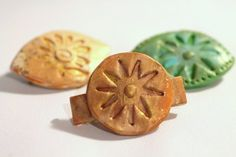 Bitsy Barrettes 3 Polymer Clay Barrettes by MaineCoonCrafts, $24.00