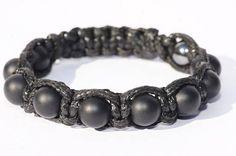 Bracelet pour homme Agate /Hématite Crane, Black Agate, Bracelet Making, Solid Black, Beaded Bracelets, Gemstones, Jewelry, Male Jewelry, Man Bracelet