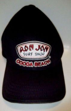 VTG Ron Jon Surf Shop Cocoa Youth Beach Hat Black Rad Surfer Baseball   RonJon 20c5c0d1217f