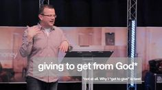 """*is the reason why you are probably frustrated. Giving is really good for you. The benefits are more profound than what you might first think. Do you think that because you are under grace that you do not need to give? You are blessed anyway? Can a grace filled christian just set their sights on making money and expect God to bless that? In this talk Andrew challenges us with the reasons why the only way to give is because """"we get to"""" - The benefits of that are more wide ranging than what…"""