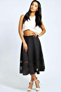 Ivy Double Mesh Midi Skirt alternative image