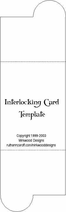 Interlocking Card Template...this would have been great for my wedding invites!