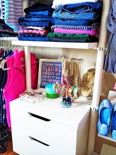 """Apartment Therapy: Closet Tour """"I think that playing dress up begins at age five, and never truly ends"""" - Kate Spade"""