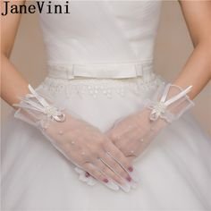 Girls' Baby Clothing Gloves & Mittens Nice 15 Hollow Girls 4 Years Pearl Old Wedding Pearl White Bow Party Elastic Party Out Short Gloves Summer Evening Girls Bow We Have Won Praise From Customers