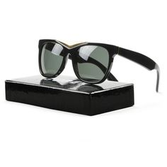 Retrosuperfuture Super Gino 034 Sunglasses Black Gold with Black Zeiss Lenses, Adult Unisex, Size: Name Brand Sunglasses, Smith Optics, Sunglasses Women Designer, Persol, Zeiss, Polarized Sunglasses, Black Gold, Eyewear, Gifts For Her