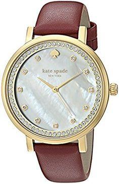Amazon.com: kate spade new york Women's KSW1170 Monterey Analog Display Quartz Red Watch: Watches