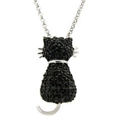 For the cat lover in your life - a kitty cat necklace.