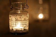 recycled glass lanterns by Nkuku Lanterns Decor, Candle Lanterns, Mason Jar Crafts, Mason Jar Lamp, Alice In Wonderland Wedding, Eclectic Wedding, Recycled Glass, Recycled Decor, Perfume Bottles