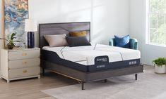 "Serta iComfort® CF3000 Hybrid Plush 13.5"" Mattresses | The Dump Luxe Furniture Outlet Luxury Furniture Brands, Furniture Outlet, Mattresses, California King, Carbon Fiber, Memory Foam, Plush, Bed, Home Decor"